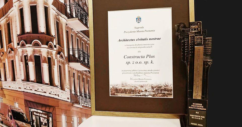 Nagroda Architectus civitatis nostrae - za kamienicę Żelazko